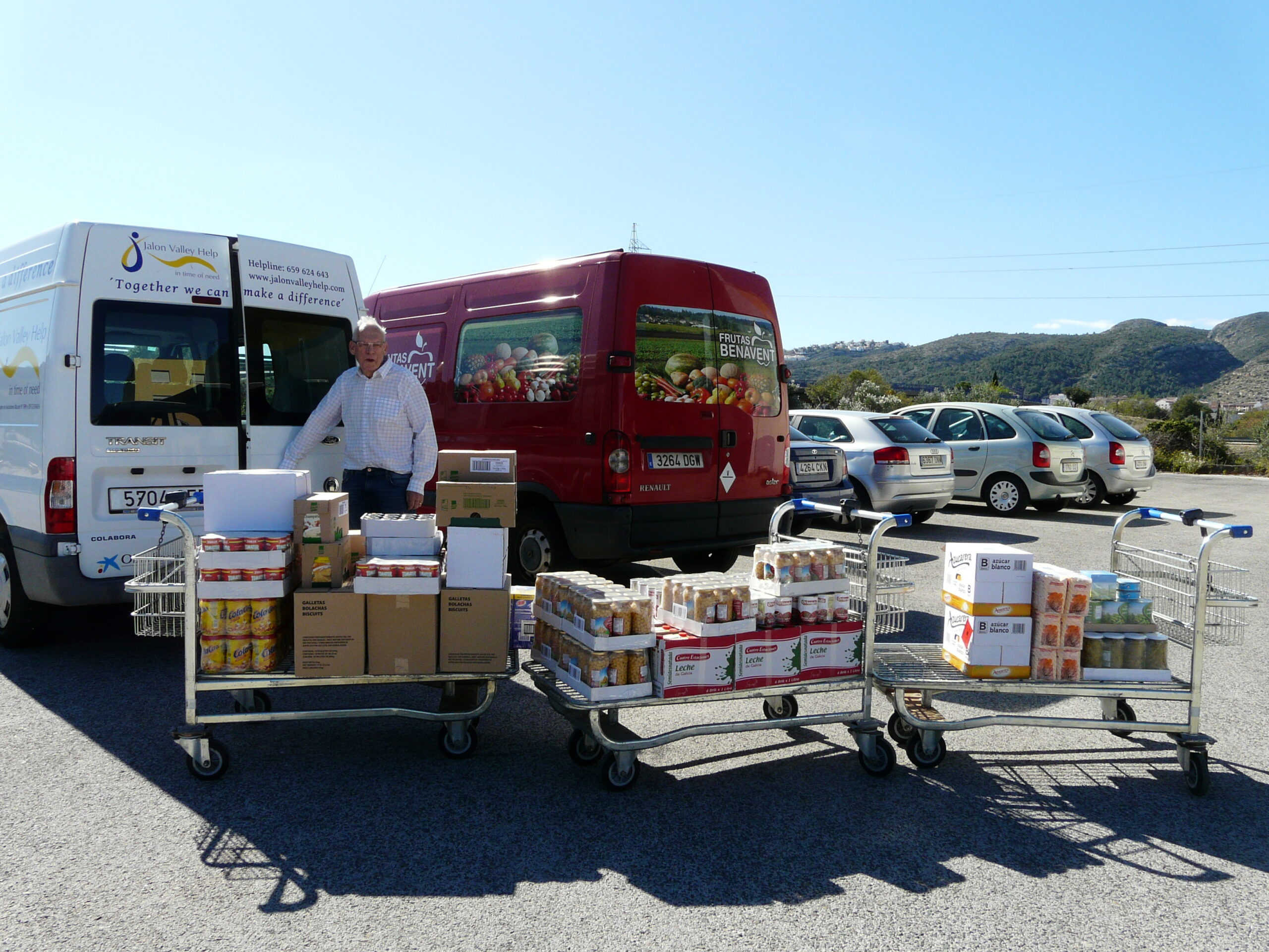 Food for the needy either through CARITAS or direct to individuals.