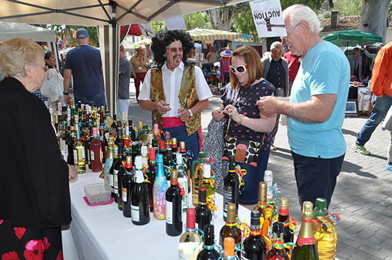 May Fayre bottle stall